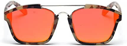SojoS Square Fashion Mirrored Lens Abstract Sunglasses SJ2003