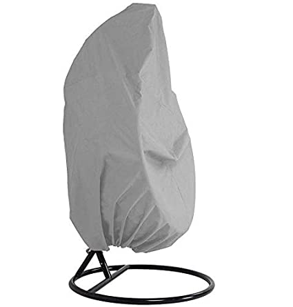 Grey mychoose Patio Hanging Chair Cover Waterproof Oxford Garden Swing Egg Chair Cover for Outdoor Furniture Rattan Wicker Chair