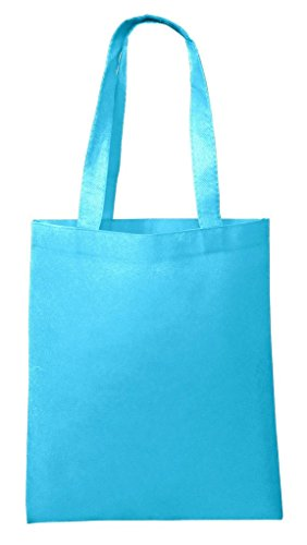 25 PACK - Wholesale Non-Woven Tote Bags, Convention Bags, Promotional Bags, NTB10 (AQUA) - Promotional Gift Bags