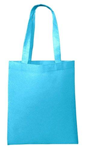 BagzDepot Non-Woven Promotional Budget Friendly Wholesale Tote Bags (30, Aqua) (Aqua Canvas)