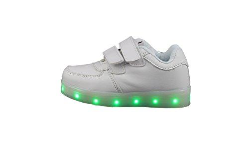 LED Schuhe Baby Kleinkinder Unisex Weiss oder Schwarz Versand Aus Deutschland Sneaker Blinken Farbwechsel Weiß
