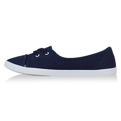 Stiefelparadies - zapatilla baja Mujer Azul - azul oscuro
