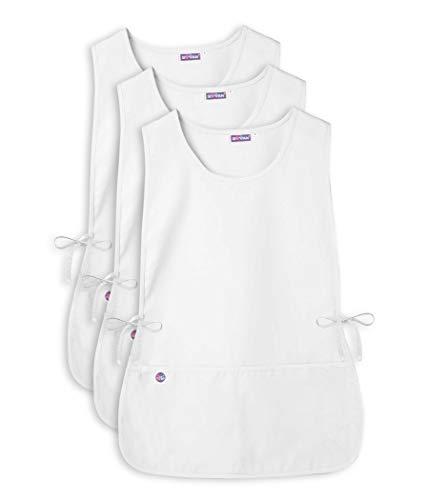 - Sivvan Unisex Cobbler Apron - Adjustable Waist Ties, 2 Deep front pockets (3 Pack) - S87003 - White - X