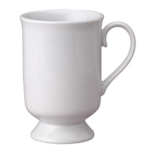 (HIC Harold Import Co White Porcelain 9 Ounce Pedestal Mug, Set of)