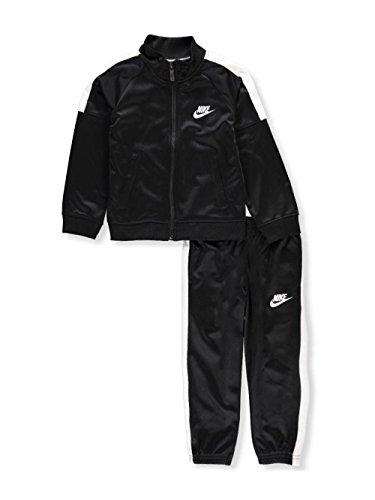 Athletic Kids Track Jacket - Boys Nike Jacket & Pants Track Suit Set Sweatsuit (6, Black White)