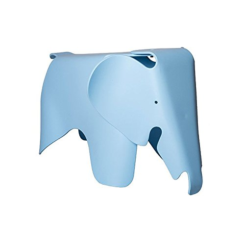 (Laura Davidson Eames Style Elephant Child Stool & Chair for Bedrooms or Playrooms (Blue))