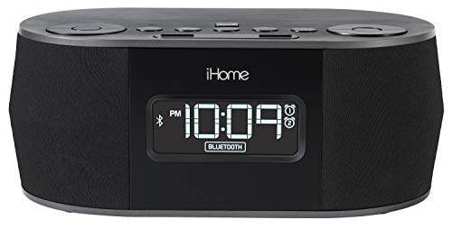 iHome iBT38G Bluetooth Stereo Dual Alarm Clock Radio - Featuring Melody, Voice Powered Music Assistant