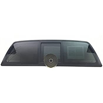 04-14 Ford F-150 sliding rear window back glass slider CENTER GLASS with LATCH