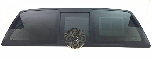 Window Heated Rear - CARLITE Fits 2004-2014 Ford F150 2&4 Door Pickup Sliding Rear Window Back Glass Power Slider Heated OEM W/Butyl Tape DB12147YPY