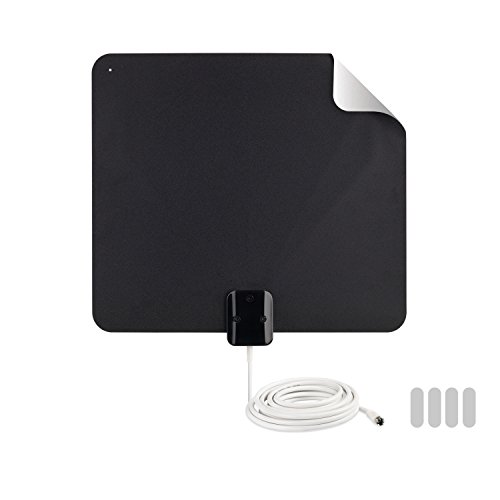 Antenna TV Digital HD - Thin Film Indoor Antenna Reversible Multi-Directional HDTV VHF + UHF Reception, 45 Mile Range from RCA