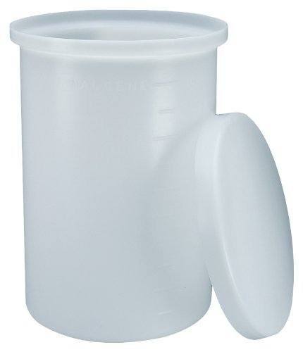 Thermo Scientific Nalgene 11100-0005 HDPE 5 gallon Cylindrical Heavy Duty Graduated Lab Tank, with Cover by Nalgene