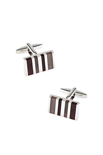Executive Stripe Multicolor Metal (Multi Stripe Cufflinks)