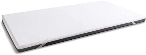 wavve 3 Inch Gel Infused Memory Foam Mattress Topper, Ventilated 2-Layer Design with Removable Cover for All Seasons, Twin