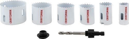 CRAFTSMAN Hole Saw Kit, Bi-Metal Set, 7-Piece (CMAH1SET7) by Craftsman