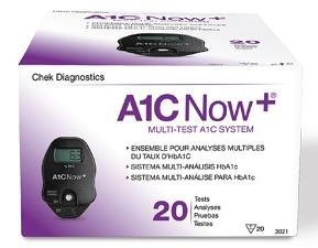A1CNow+ System (Monitor w/20 Strips) CHEK Diagnostics Healthcare (Diabetes) by A1CNow+