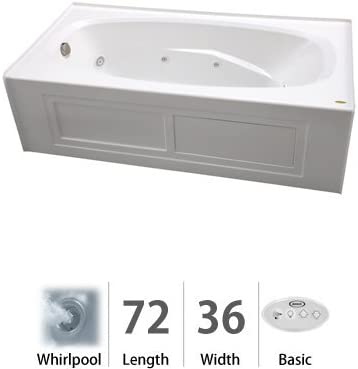 Jacuzzi Ams7236wrl2xxw Amiga 72in X 36in Three Wall Alcove Comfort Whirlpool Bathtub White 60 Or More Gallons Amazon Co Uk Diy Tools