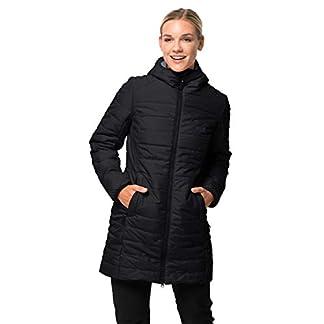 Jack Wolfskin Damen Maryland Coat Steppmantel Winddicht Wasserabweisend Atmungsaktiv Mantel, schwarz, XXL 12