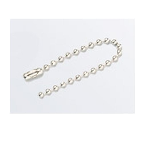Brady 98856, #6 Aluminum Beaded Chain, 5 Packs of 100 pcs by Brady