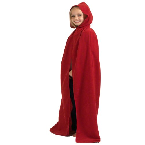 Red Cloak or Cape with Hood (Fairy Tale Costumes For Girls)