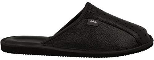 Lujo De Cuero Para Natural Negro Zapatillas Casa Hombre 890 S4P7wdEqn
