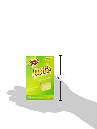 Scotch-Brite Dobie All-Purpose Pad, 3 Count (Pack of 8)