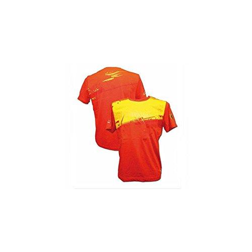 Camiseta hombre Ferrari firma Scudetto rojo/amarillo talla L