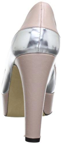 Mujer Cuero nude 155 grau Gris Vestir silver Para De P1 Zapatos Bpm U4wwp0