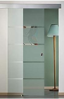 Correderas de cristal para puerta de entrada puerta de cristal puerta con alu-ferrocarril 4050 90 x 210 cm: Amazon.es: Hogar