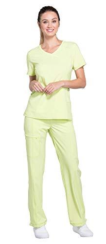 - Cherokee Infinity Women's Mock Wrap Scrub Top 2625A & Low Rise Drawstring Scrub Pants 1123A Scrubs Set (Certainty Antimicrobial) (Sunny Day - XX-Large/XX-Large)