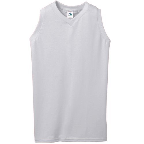 50/50 Ladies Sleeveless V-Neck Jersey/Shirt (50% Cotton/50% Polyester, 8 Women's/Girls Sizes, 15 Colors) by Augusta ()
