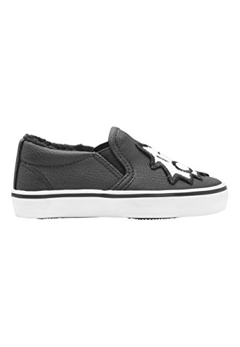 next Niños Zapatillas Sin Cordones con Pegatina (Niño Pequeño) White & Plum Stripe