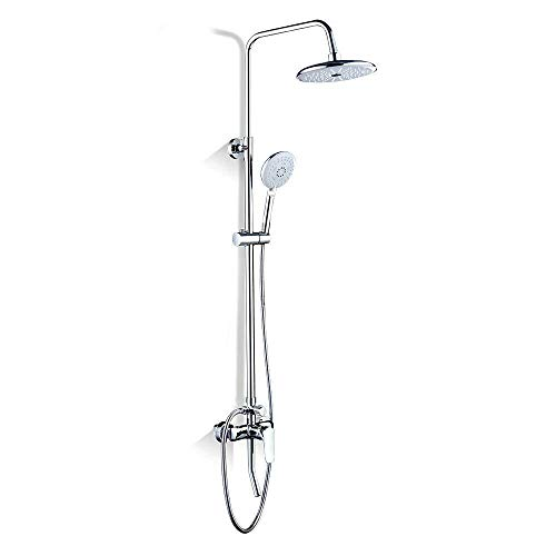 PATNICK Bath Shower Mixer Tap with Rainshower Shower Set Rain Shower Set Shower System with Shower Head and Hand Shower Bathroom Shower Valve with Overhead Shower ()