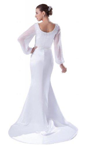 Orifashion - Vestido de novia - Manga Larga - Mujer