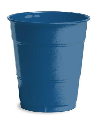 Creative Converting 28113771 Navy Plastic Cups, 12 Oz Solid (12pks Case)