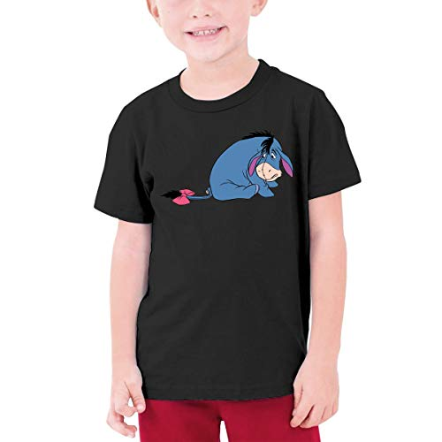 - Kangtians Boys Eeyore Shirt Childrens Cotton Tee Black