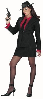 Adult Gangster Lady Halloween Costume (Size: Medium/Large 8-14) -