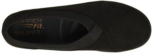 Mujer Ajuste Slip Negro Restaurar Cobre On Zapatillas de la 0ROaqawS