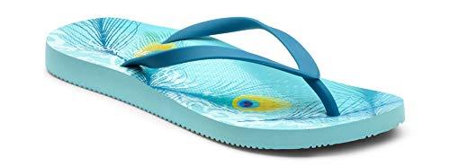 Vionic Women's Beach Noosa Flip Flop, Black Pewter, 5 M US