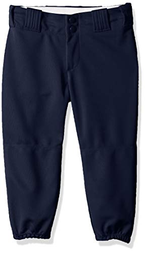 Alleson Athletic Girls Fast pitch Softball Belt Loop Pants, Navy, Small (Best Womens Sports Knickers)
