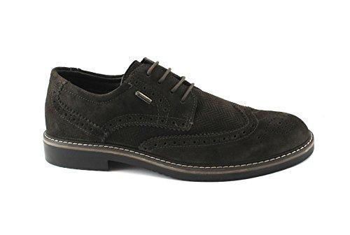 IGI&Co 86787 Elegante Kaffeebraun Männer Schuhe Stickerei Englisch Zehenkappe Gore-Tex Marrone
