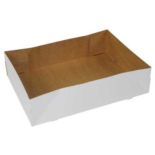 Boxit Four Corner Automatic White Donut Tray -- 250 per case.