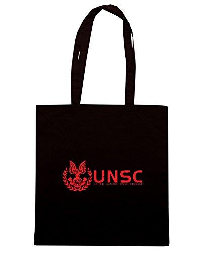 T-Shirtshock - Bolsa para la compra TGAM0081 UNSC Marines Negro