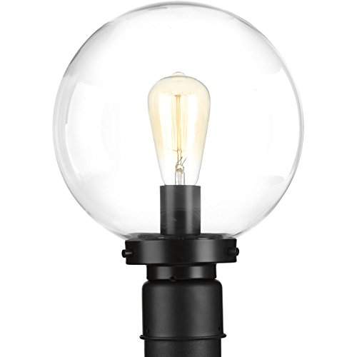 (Progress Lighting P540007-031 Globe Post Lantern, Black)