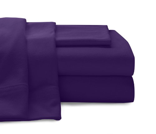 Baltic Linen Jersey Cotton Sheet Set Queen Purple 4-Piece Set