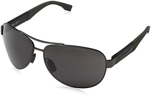 Hugo Boss Mens 0915/S Sunglasses Gray Black/Gray One - Sunglasses Boss Hugo