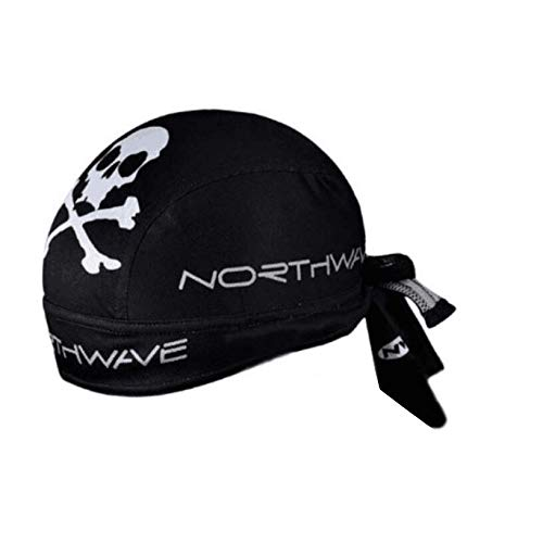 Bleiou Cycling Cap Sweat Proof Sunscreen Headwear Bike Team Scarf Bicycle Bandana Pirate Headband Riding Hood Sports hat (Black)