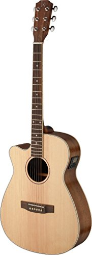 (James Neligan ASY-ACE LH ASYLA Series Left Handed Auditorium Cutaway Acoustic-Electric Guitar)