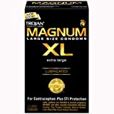 Trojan Magnum XL Lubricated Premium Latex Condoms 12 ct