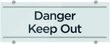 Basic Teal Premium Brushed Aluminum Sign CGSignLab 5-Pack 8x3 Danger Keep Out