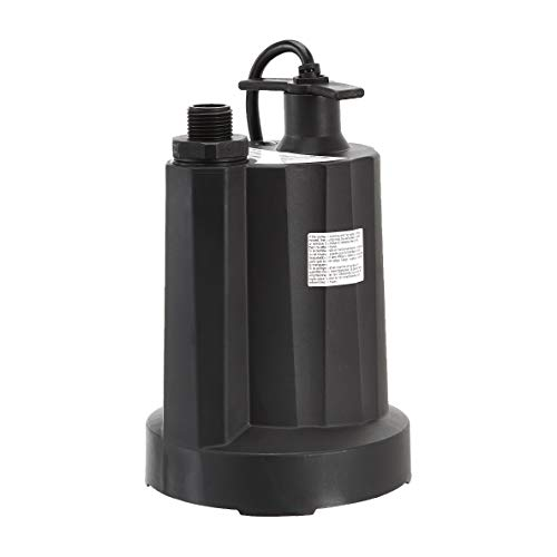 AmazonCommercial 1/4 HP Thermoplastic Submersible Utility Pump, Black (0.25 Hp Utility Pump)